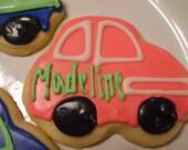 Custom Car Shaped Sugar Cookies