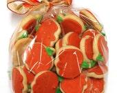 Mini pumpkin sugar cookies
