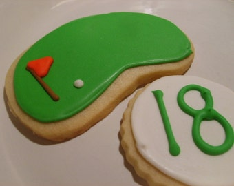 Custom listing for 2 dozen  golf sugar cookies
