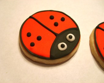 Lady Bug Sugar Cookies (3 dozen)