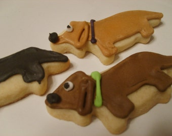 Mini Dachshund cookies
