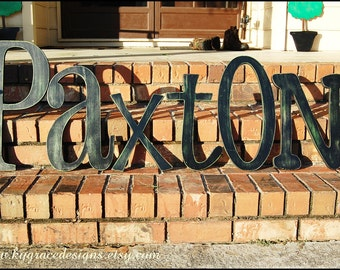 "12"" painted wood letters Can be done in any font or color This listing is for 1 letter. Select quanity at checkout for words or names"