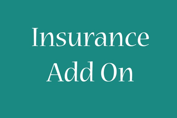 Insurance add on for any order in my shop    Insure that your package makes it safe or your money back with this Insurance add on
