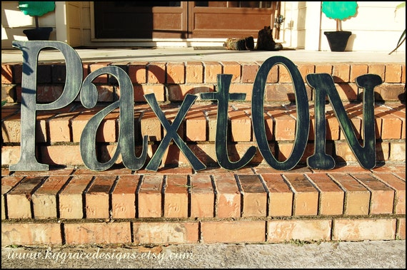 """12"""" painted wood letters Can be done in any font or color This listing is for 1 letter. Select quanity at checkout for words or names"""
