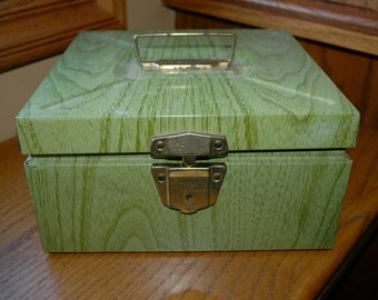 Vintage Metal Porta-File Box