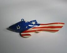 American Flag Spear Fishing Decoy