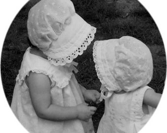 2T, 3T White Eyelet Baby and Toddler BONNET Sunhat sunbonnet