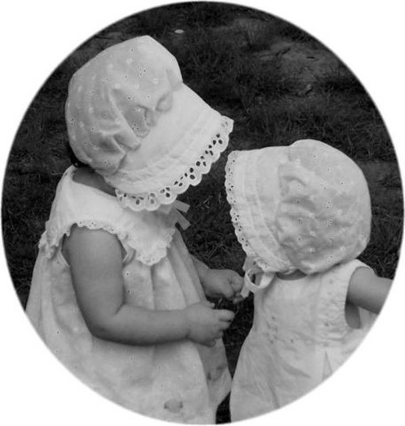 3T and 4T - White Eyelet BONNET