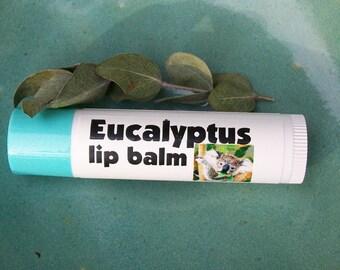 Eucalyptus Lip Balm in a tube