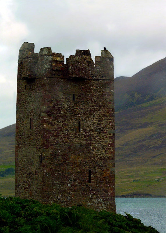 Castle of the Pirate Queen- Fine art print, Ireland photography, castle ruins photography, Grace O'Malley's castle, wall art, home decor
