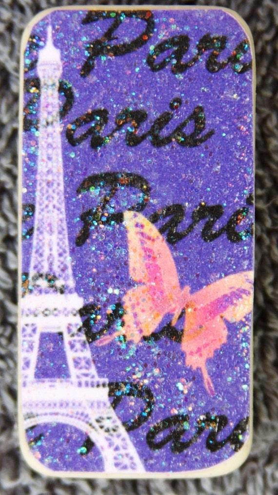 Eiffel Tower Magnet, Paris, Altered, Dominoe, GIft