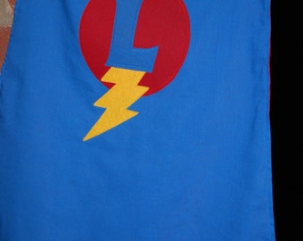 Custom Made Personalized SuperHero Cape in Blue and Red