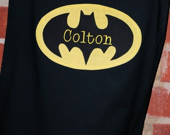 Custom Made Embroidered and Personalized Batman SuperHero Cape - Babies and Toddlers