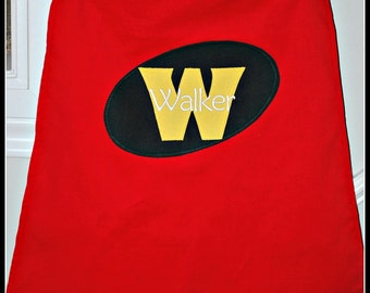 Custom Made Embroidered and Personalized Robin SuperHero Cape - Babies and Toddlers