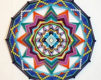 Colorful Life, a 24 inch Ojo de Dios, by custom order