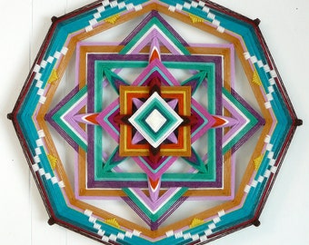 Crossroads, a 16 inch, 8-sided Ojo de Dios, by custom order