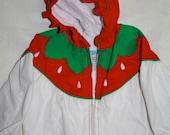 Girl's Strawberry Themed lightweight Jacket