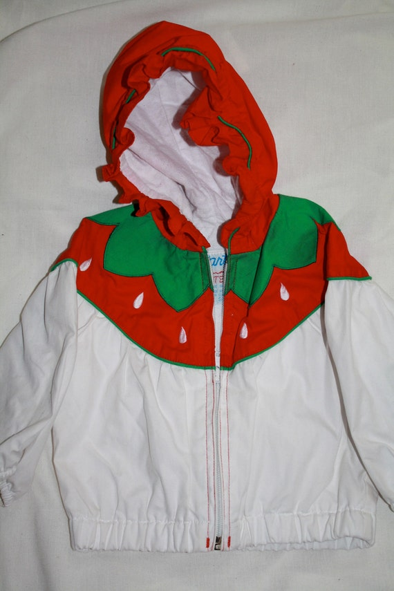 Girl's Strawberry Themed lightweight Jacket