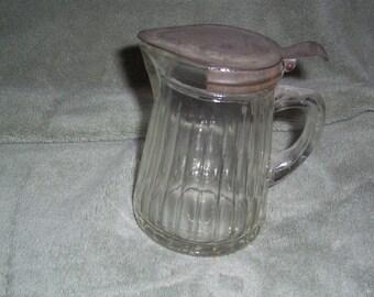 Vintage Antique Syrup Jar