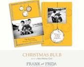 Christmas Bulb - 5x7 Holiday Card Template