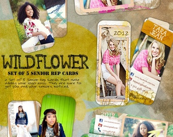 Wild Flower Senior Rep Cards (Set of Five)