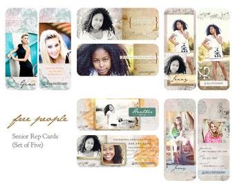 Free People Senior Rep Cards