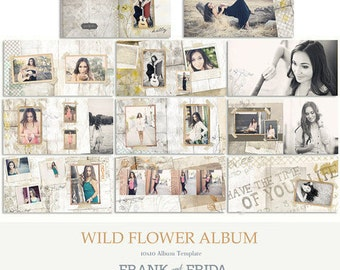 10x10 Album Template - Wildflower Album