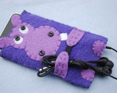 Purple Hippo ipod touch, classic or iphone cover