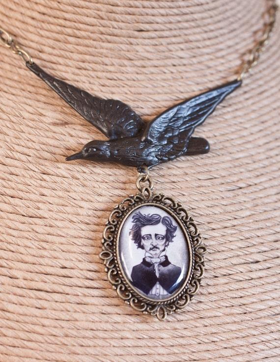 Edgar Allan Poe's Raven Necklace