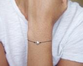 Sterling Silver Heart Wish Bracelet- Friendship Bracelet, Charm Bracelet, Gifts Under 20 Dollars - Black Friday - Cyber Monday