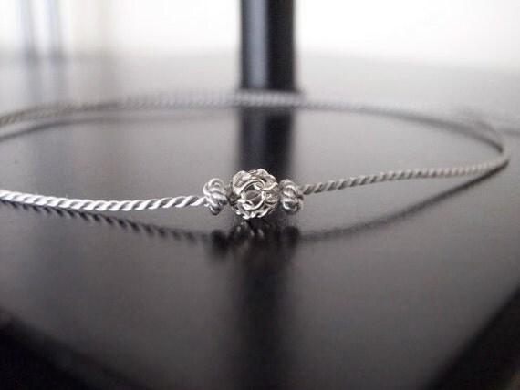 Mesh Sterling Silver Ball Wish Bracelet - Make a Wish - Friendship Bracelet #2-006