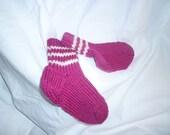 Toddler Magenta Wool Socks