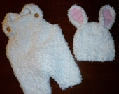 Baby Bunny Hat and Pants - Reserved for LynCradleHouse