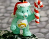 Upcycled Care Bear Christmas Necklace- Wish Bear- On Sale