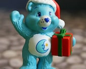 Upcycled Care Bear Christmas Necklace- Bedtime Bear- Sale