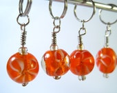 Flowery stitch markers (set of four)