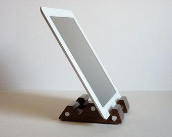 New iPad Stand Walnut and Aluminum Holder Tablet Stand