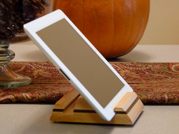 Sturdy Wooden iPad 2 Stand, iPad Accessories, Valentines Day Gift