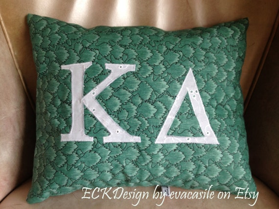 Kappa Delta Sorority decorative pillow