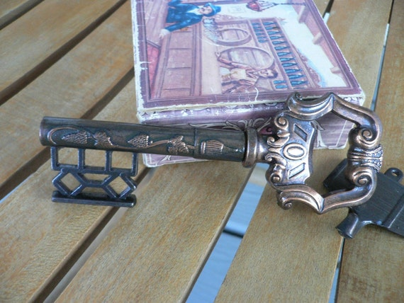 Vintage Corkscrew, Italian Made Key,  Barrel Hanger, Bar Ware