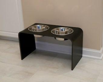 12 Inch Black Elevated dog bowl