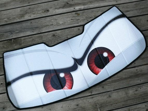 Mini Cooper Eyes Sunshade Eyeshades Custom Angry Eyes