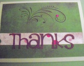 Thanks Card (Green) Set of 6