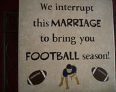 Tile Art, We Interrupt This Marriage to Bring You Football Season