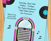 50's Jukebox Party Invitation
