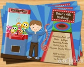 Kids Arcade Party Birthday Invitation - Print at Home or E-card