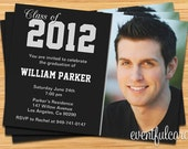 Class of 2016 High School/College Graduation Invitation Photo Card - Print at Home or E-card