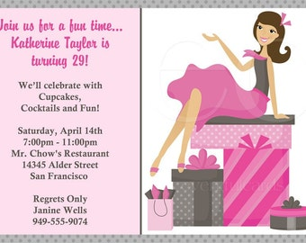 Girlie Pink Party Invitations
