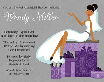 african american bridal shower invitation, Bridal shower invitations
