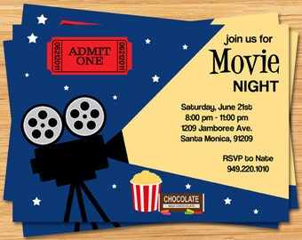 Movie Party Invitation